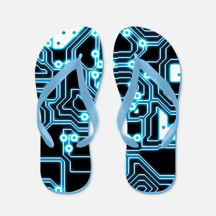 ElecTRON - Blue/Black Flip Flops