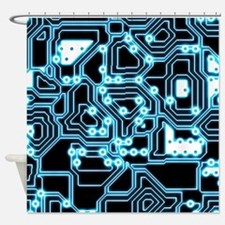ElecTRON - Blue/Black Shower Curtain