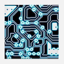 ElecTRON - Blue/Black Tile Coaster
