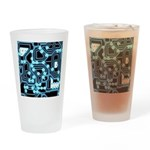 ElecTRON - Blue/Black Drinking Glass