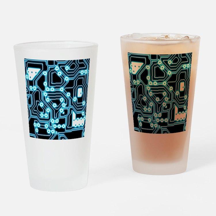 ElecTRON - Blue/Black Drinking Glass