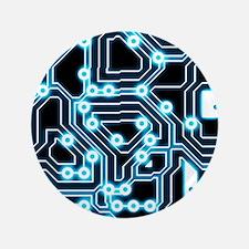 "ElecTRON - Blue/Black 3.5"" Button"