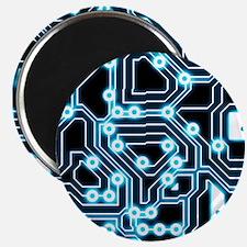 """ElecTRON - Blue/Black 2.25"""" Magnet (100 pack)"""