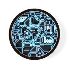 ElecTRON - Blue/Black Wall Clock