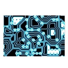 ElecTRON - Blue/Black Postcards (Package of 8)