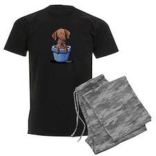 KiniArt Potted Doxie Pajamas