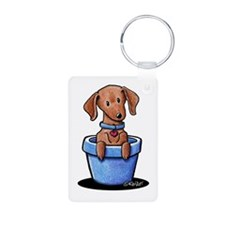 KiniArt Potted Doxie Keychains