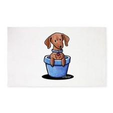 KiniArt Potted Doxie 3'x5' Area Rug
