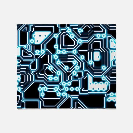 ElecTRON - Blue/Black Throw Blanket