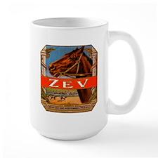 Vintage Cigar Label with Racing Horses; Zev Cigars
