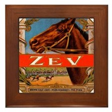 Vintage Cigar Label with Racing Horses; Zev Cigars