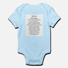 My Life, My Choice Poem (Black) Body Suit