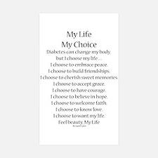 My Life, My Choice Poem (Black) Decal