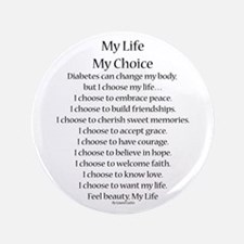 "My Life, My Choice Poem (Black) 3.5"" Button"
