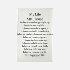 My Life, My Choice Poem (Black) Rectangle Magnet