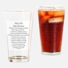 My Life, My Choice Poem (Black) Drinking Glass