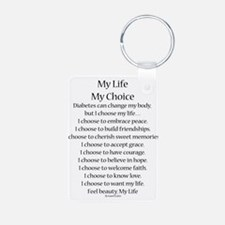 My Life, My Choice Poem (Black) Keychains