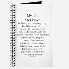 My Life, My Choice Poem (Black) Journal