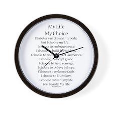 My Life, My Choice Poem (Black) Wall Clock