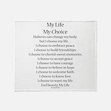 My Life, My Choice Poem (Black) Throw Blanket