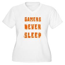 gamers never sleep Plus Size T-Shirt