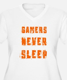 gamers never sleep Plus Size T-Shirt