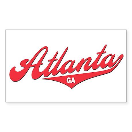 Atlanta GA Rectangle Sticker