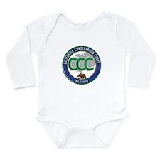 Alumni blue/green Long Sleeve Infant Bodysuit