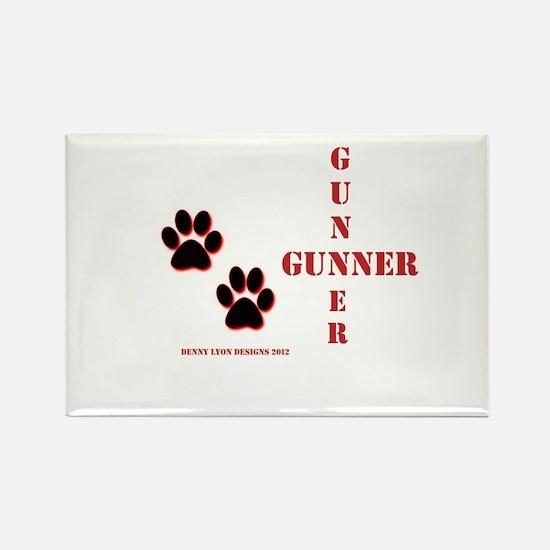 Gunner Name Rectangle Magnet