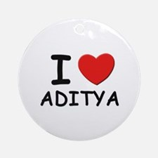 I love Aditya Ornament (Round)