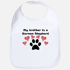 My Brother Is A German Shepherd Bib