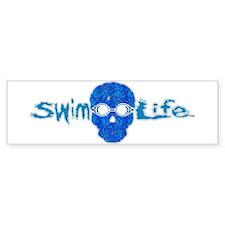 swim life water skull with goggles Bumper Bumper Sticker