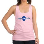 swim life water skull with goggles Racerback Tank