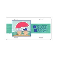 Beach Bums Aluminum License Plate