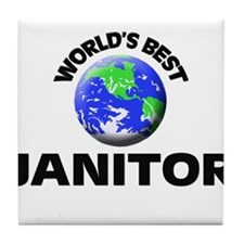 World's Best Janitor Tile Coaster