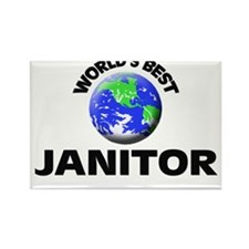 World's Best Janitor Rectangle Magnet