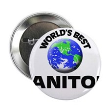 """World's Best Janitor 2.25"""" Button"""