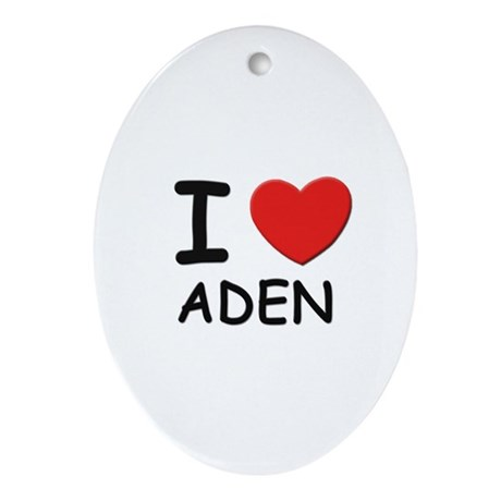 I love Aden Oval Ornament