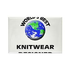 World's Best Knitwear Designer Rectangle Magnet