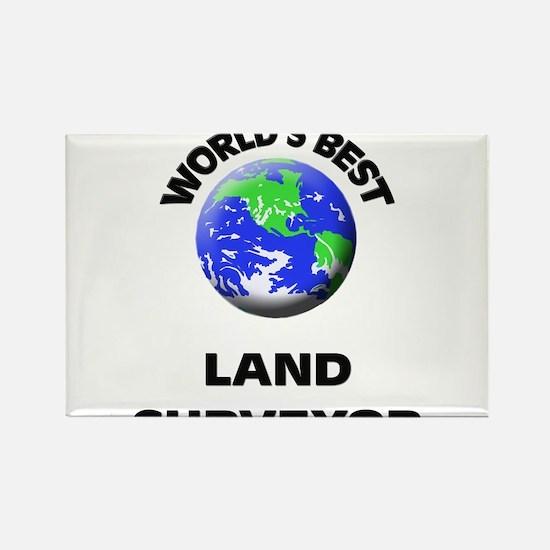 World's Best Land Surveyor Rectangle Magnet