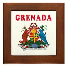 Grenada Coat Of Arms Designs Framed Tile