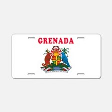 Grenada Coat Of Arms Designs Aluminum License Plat