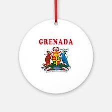 Grenada Coat Of Arms Designs Ornament (Round)