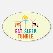 Eat Sleep Tumble Sticker (Oval)