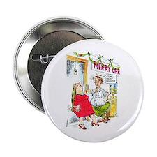 Nerd Mistletoe Button