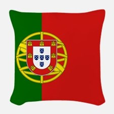 Flag of Portugal Woven Throw Pillow