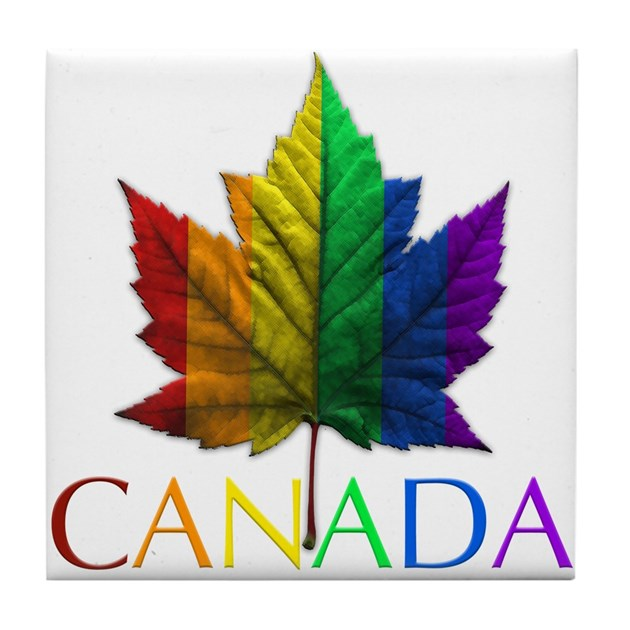 Gay Pride Coasters Canada Rainbow Maple Leaf By Gay Pride Gift