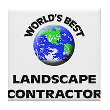 World's Best Landscape Contractor Tile Coaster
