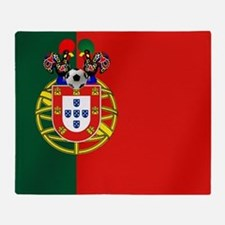Portugal Football Flag Throw Blanket
