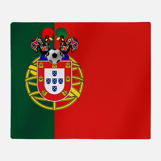 Portugal Football Flag Throw Blanket